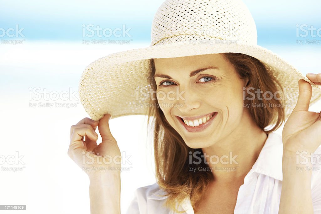 I'm carefree but I still care about my skin stock photo