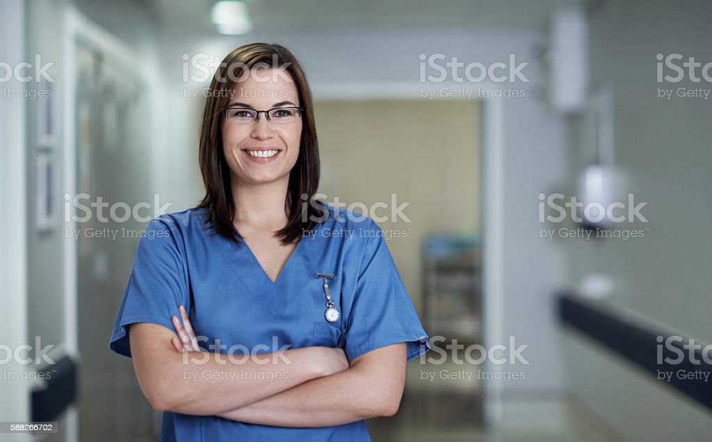 I'm committed to delivering excellent healthcare stock photo