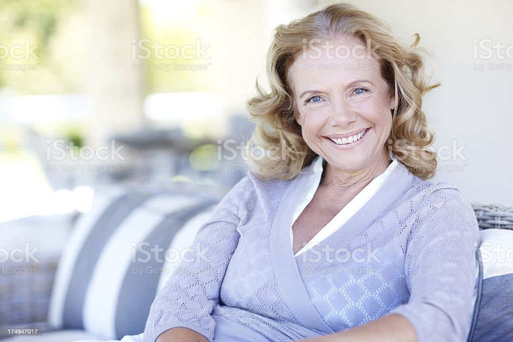 I'm confident and happy in my retirement royalty-free stock photo
