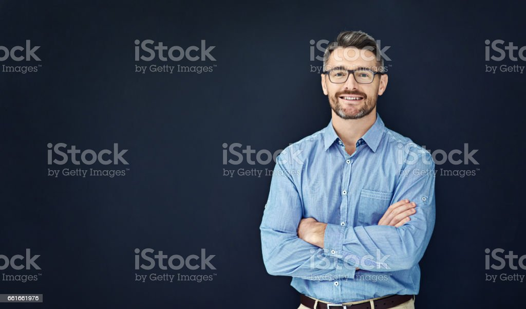 I'm confident in the way I approach business stock photo