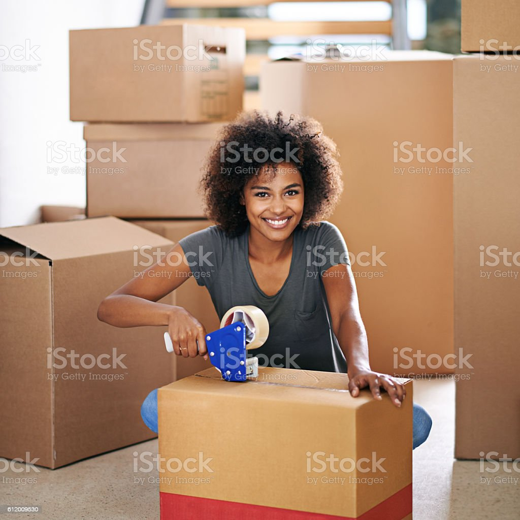 I'm excited about this move stock photo