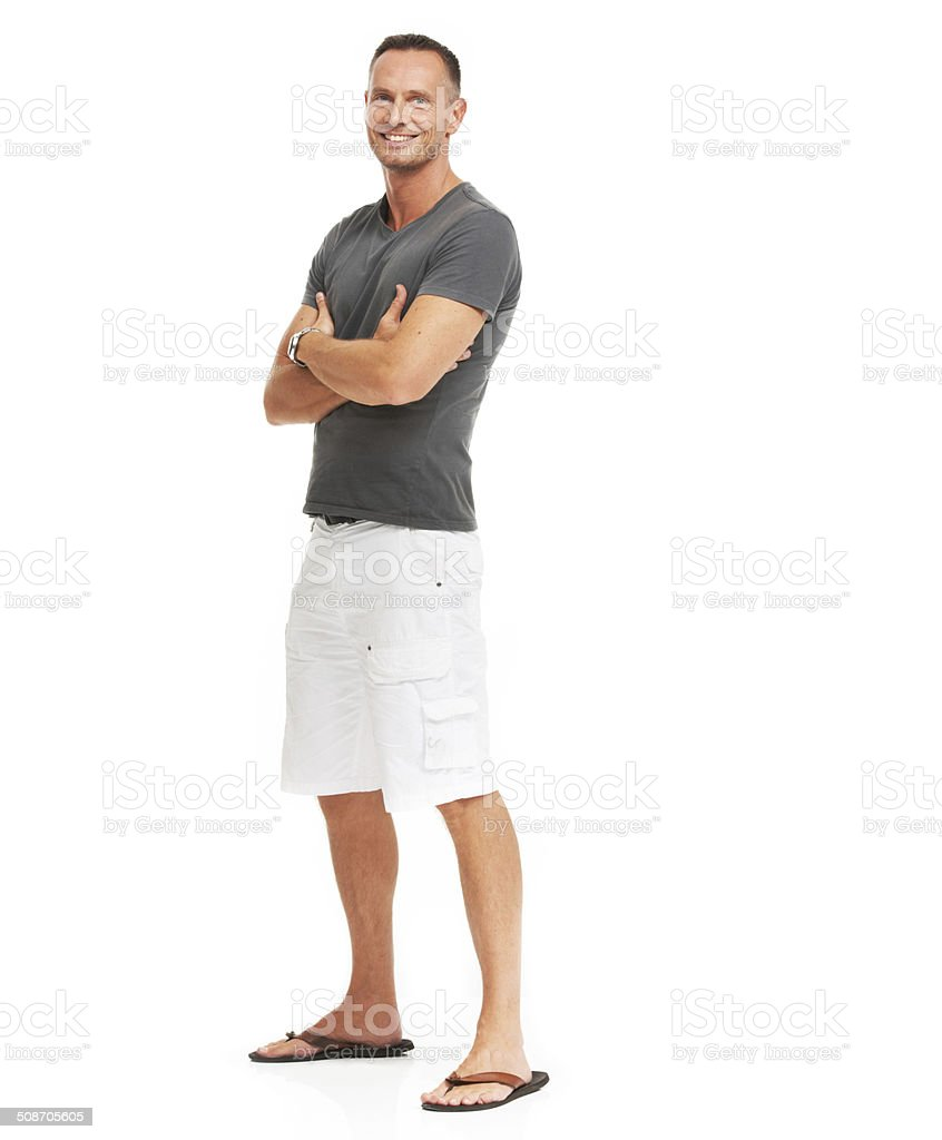 I'm feeling absolutely great stock photo