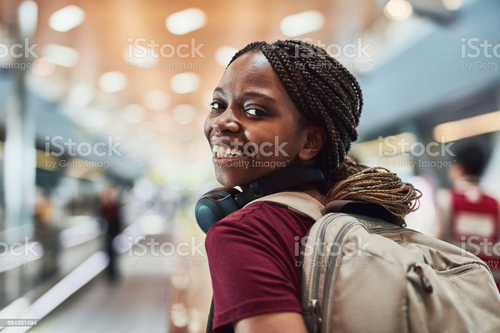 I'm flying solo! stock photo