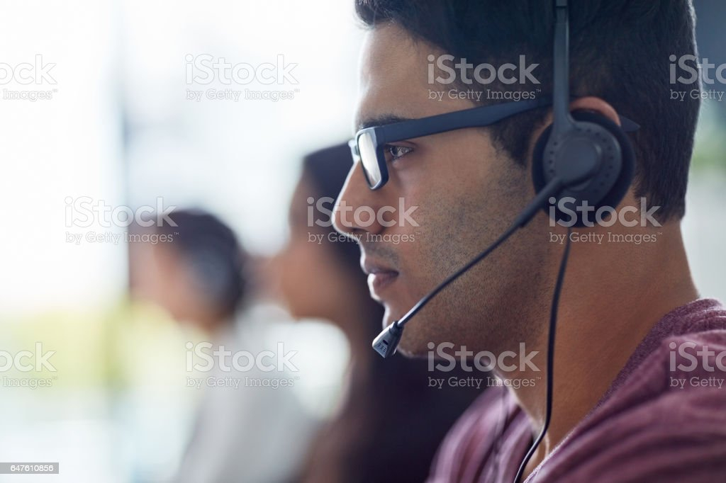 I'm focused on helping each customer best I can stock photo