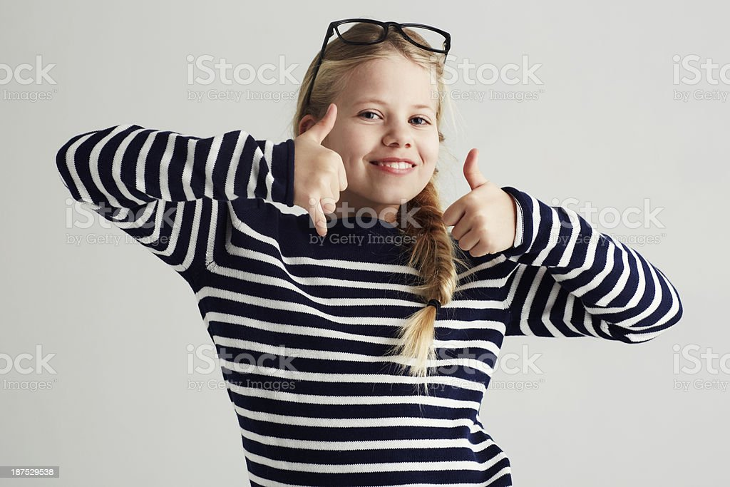 I'm giving you two thumbs up! stock photo