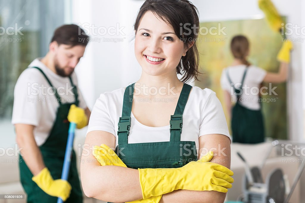 I'm glad to say that your house is clean stock photo