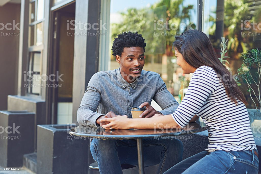 I'm glad you asked me out for coffee stock photo