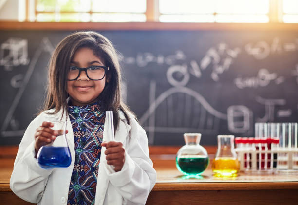i'm going to be the best scientist ever! - genius stock photos and pictures