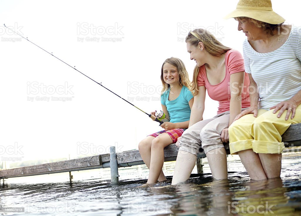 I'm going to catch me a huge one! royalty-free stock photo
