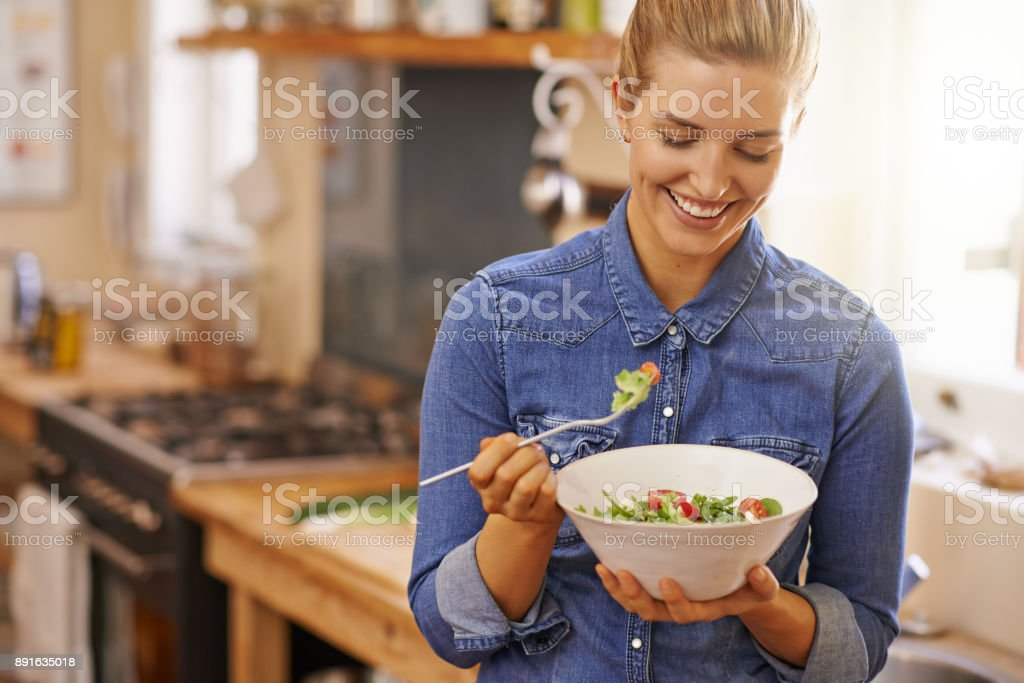 I'm going to enjoy every bite stock photo