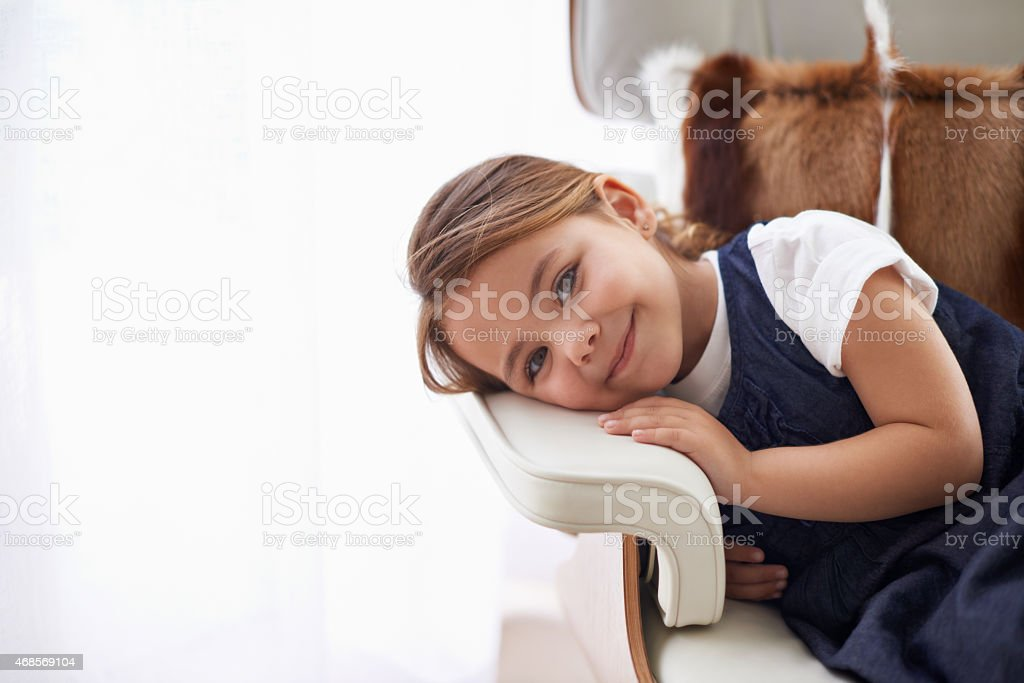 I'm gonna be a big girl one day! stock photo