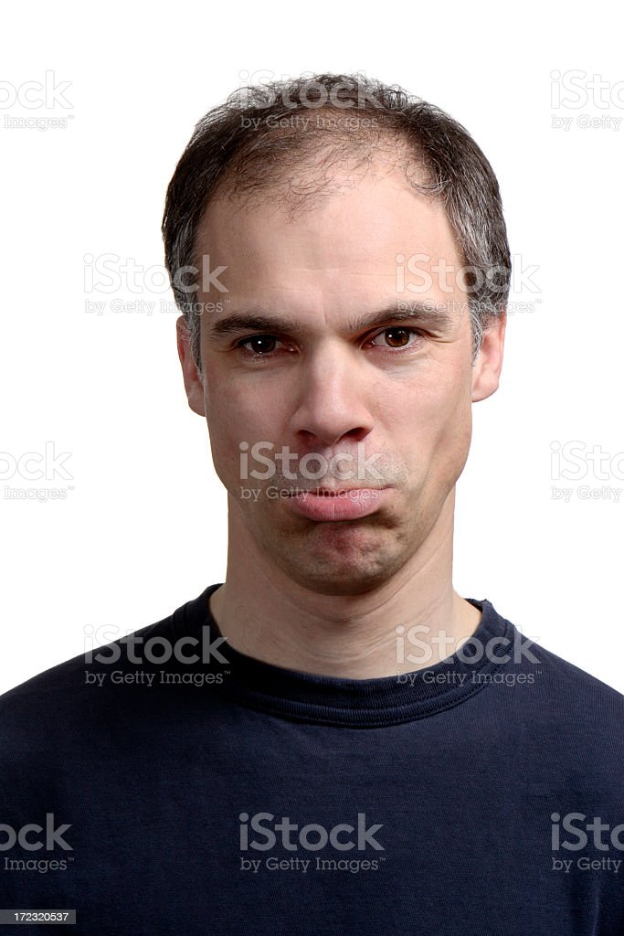 I'm Gonna Pout! royalty-free stock photo