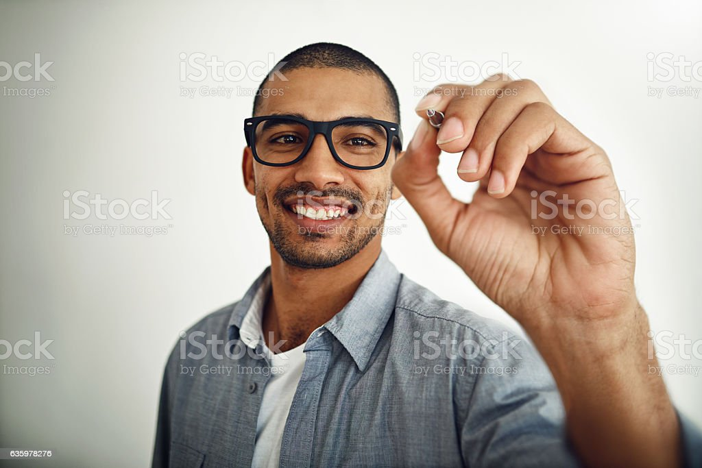 I'm happy to share this message stock photo
