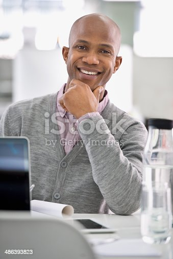 istock I'm having a great day at work! 486393823