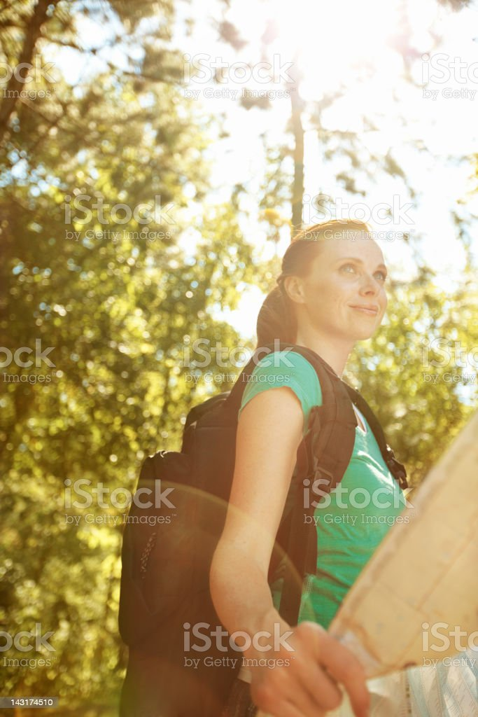 I'm headed in the right direction royalty-free stock photo