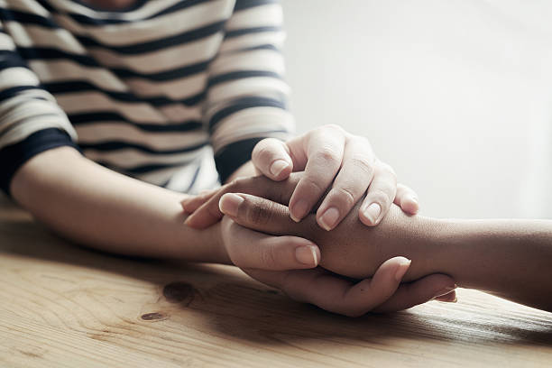 i'm here for you - grief stock photos and pictures
