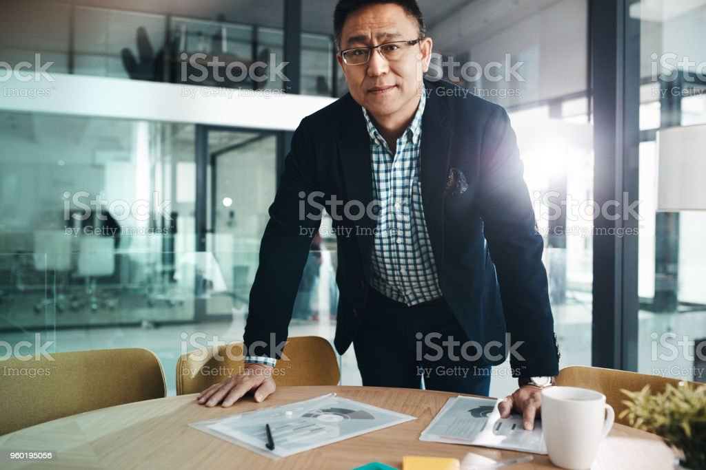 I'm here to dominate in the business game stock photo