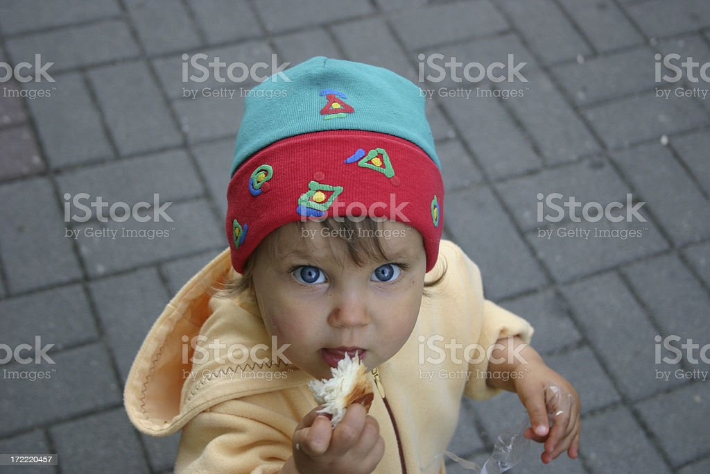 I'm hungry Poor little child royalty-free stock photo