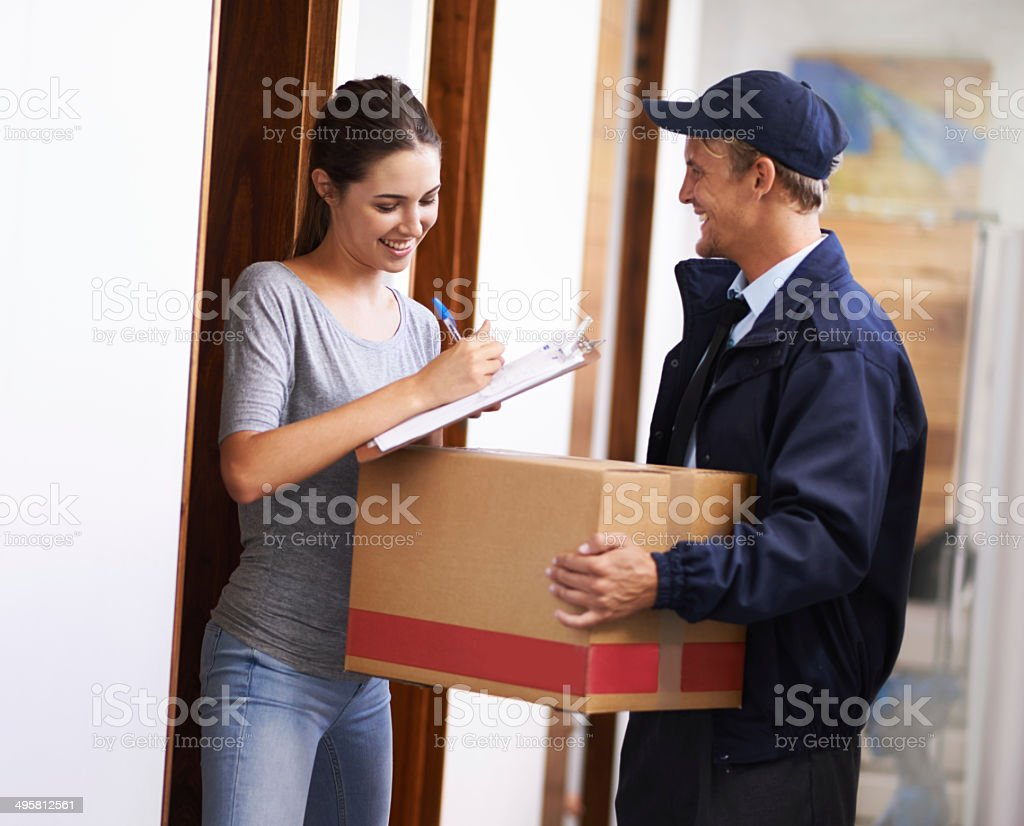 I'm impressed with your efficient service stock photo
