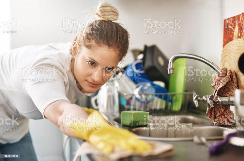 I'm in a cleaning mood! stock photo