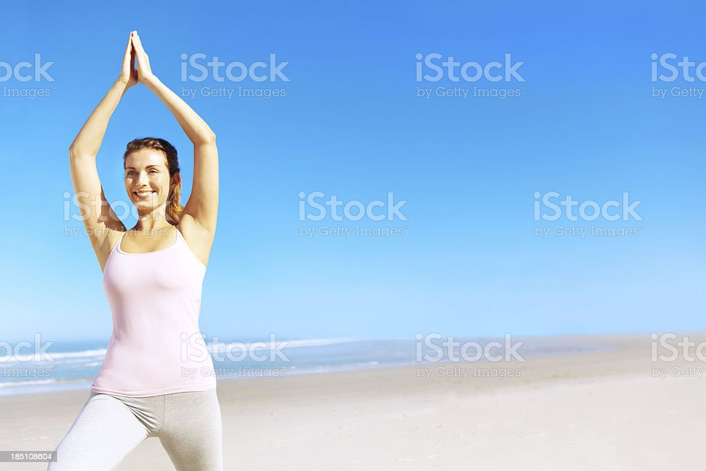 I'm in great shape for summer royalty-free stock photo