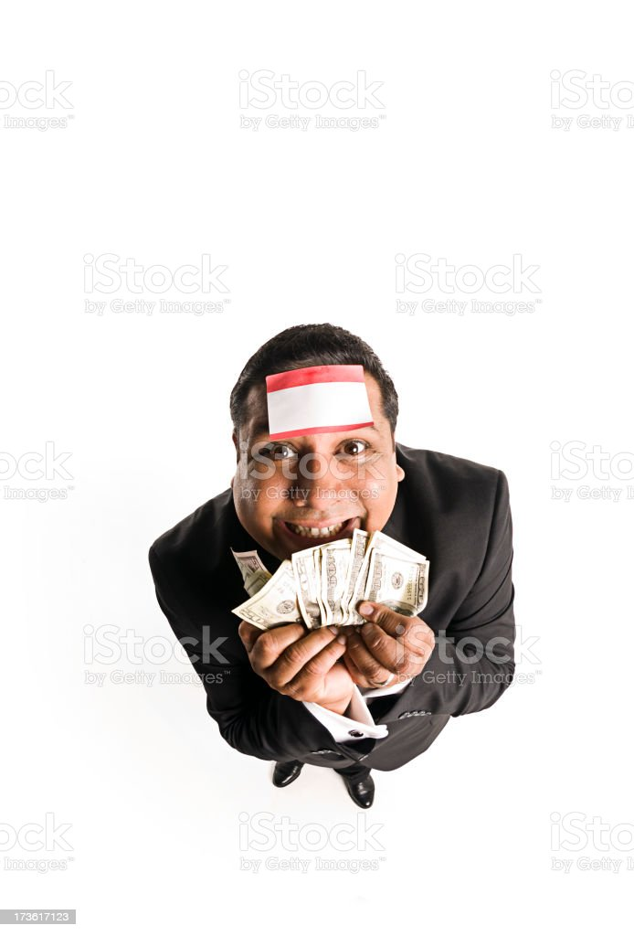 I'm in the money royalty-free stock photo