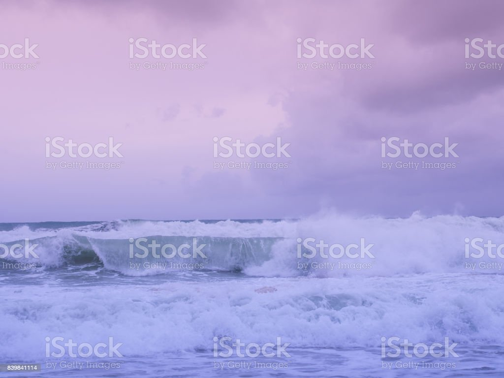 I'm inlove with nature, an amazing color of nature makes me stare at them forever, the incoming wave at Phuket, the southern part of Thailand stock photo