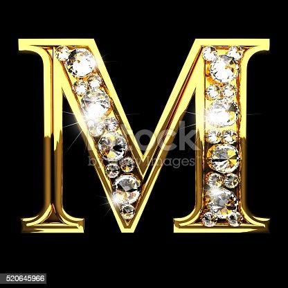 Fotografía de M L...M Letter In Black Diamonds