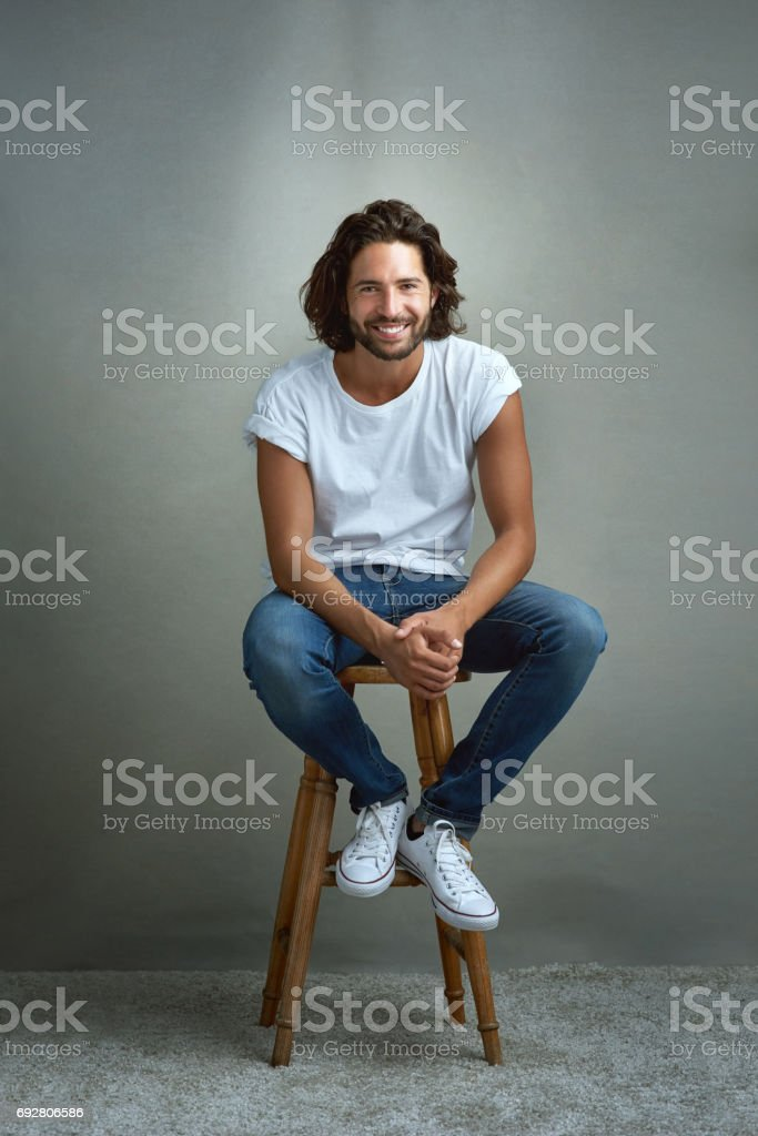 I'm just an easygoing kinda guy stock photo