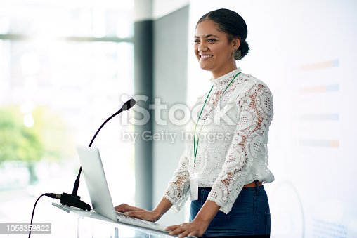 istock I'm looking forward to sharing the information with you all 1056359822