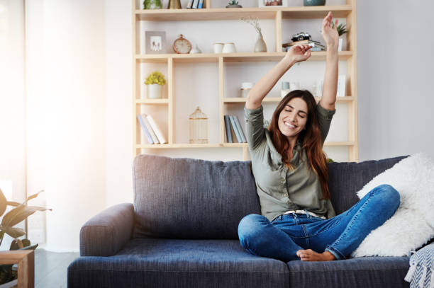 Ich bin am glücklichsten, wenn ich zu Hause chille – Foto