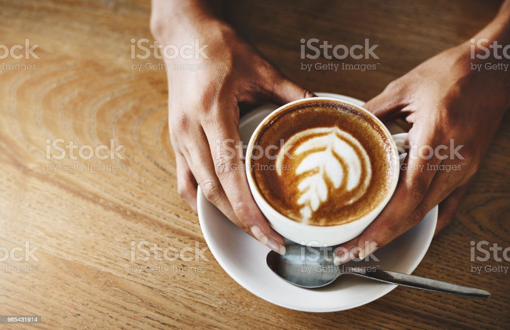 I'm not addicted to coffee... We're just in a committed relationship zbiór zdjęć royalty-free