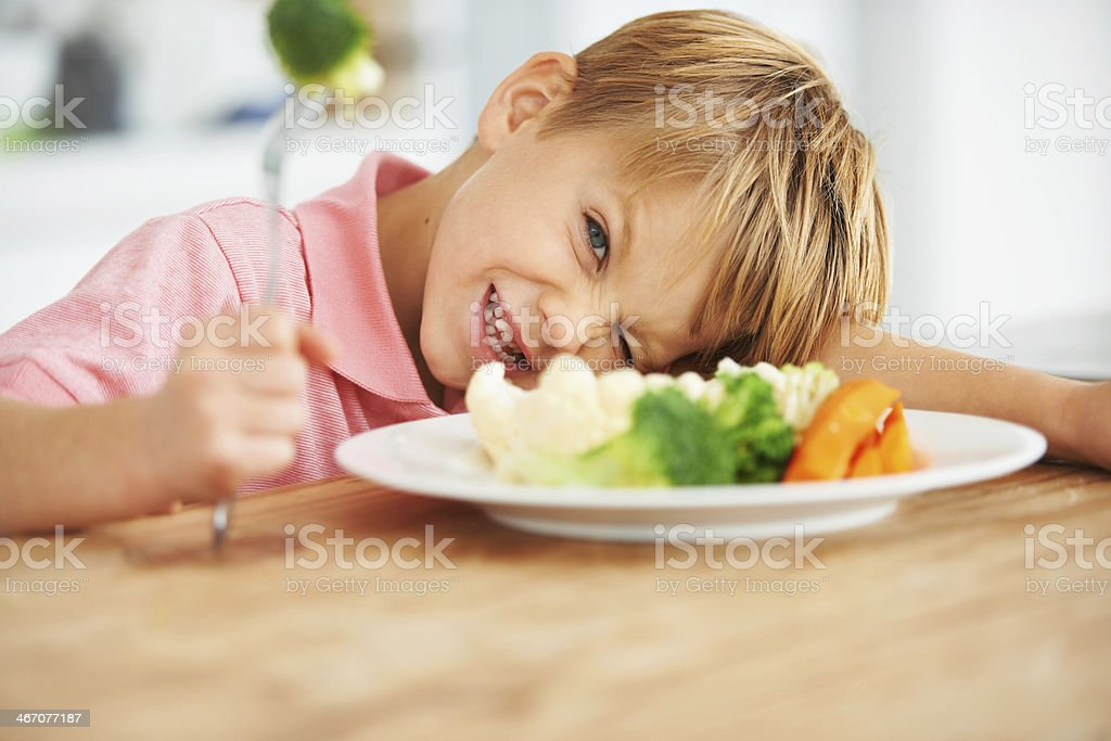 I'm not eating this! stock photo