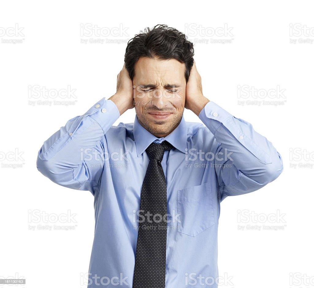 I'm not listening... royalty-free stock photo