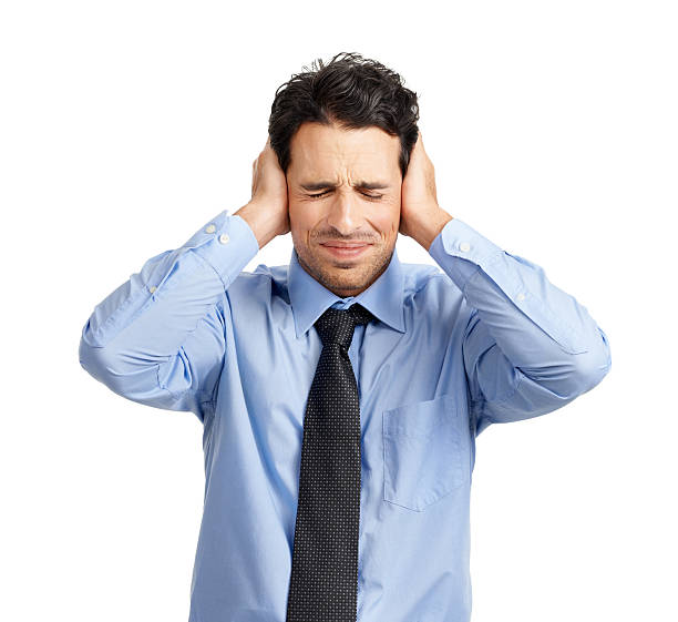 i'm not listening... - covering ears stock photos and pictures