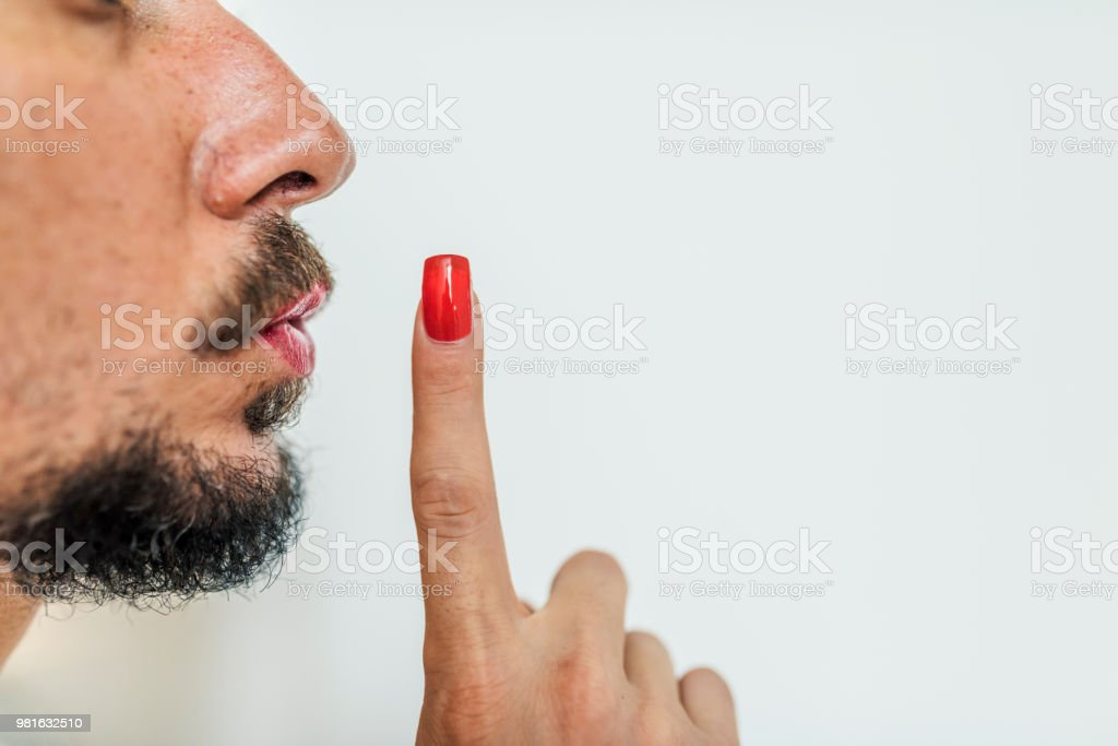 I'm not saying a word! stock photo