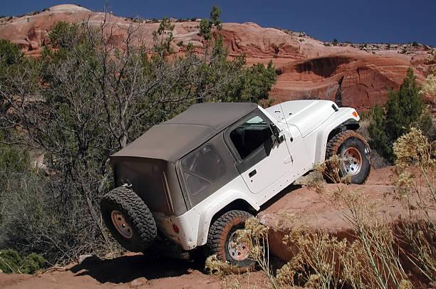 i'm not stuck. - moab utah stockfoto's en -beelden