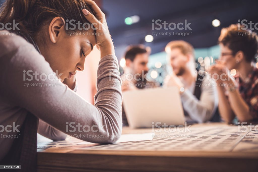 I'm not sure I will get this job! stock photo