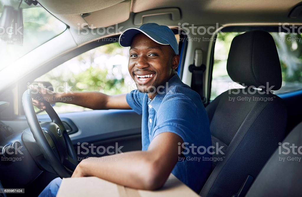 I'm on my way stock photo