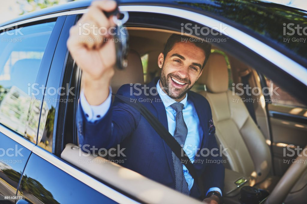 I'm on my way to an important meeting stock photo