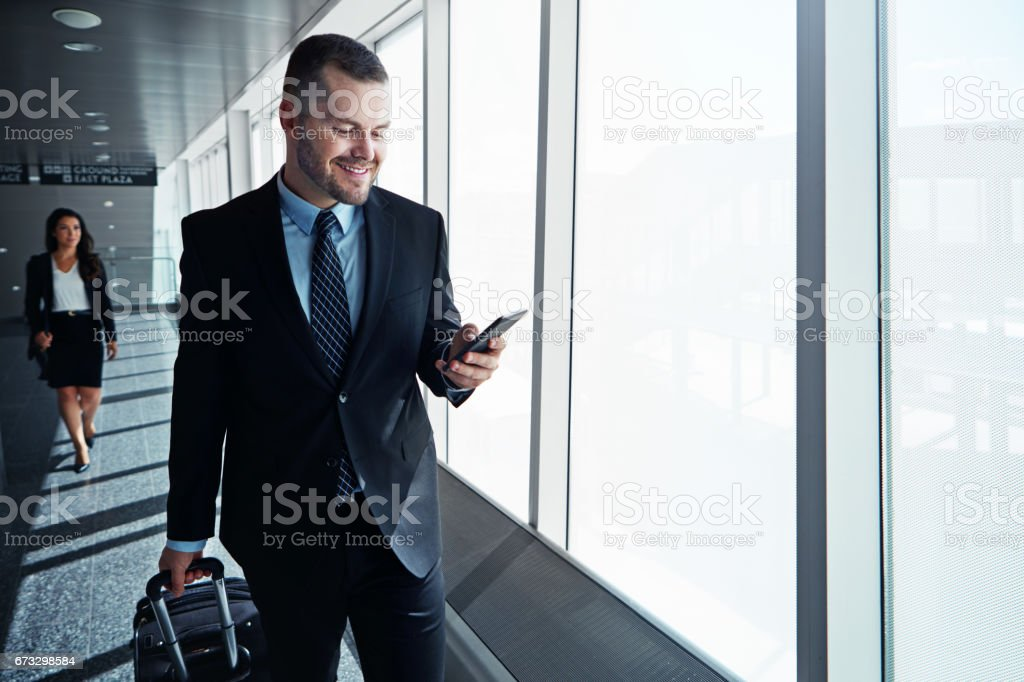 I'm on my way to the boarding gate now royalty-free stock photo