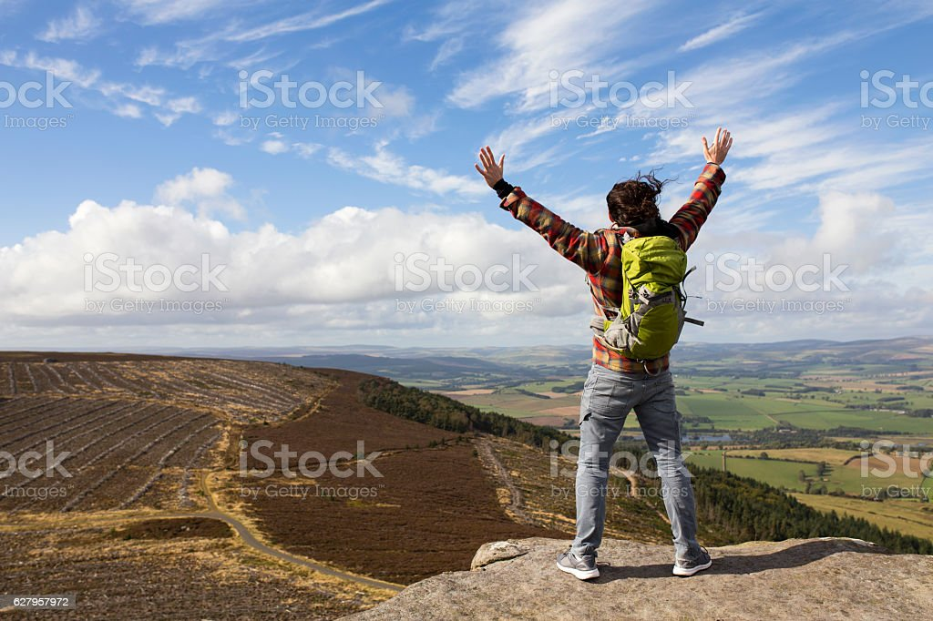 I'm On Top of the World stock photo
