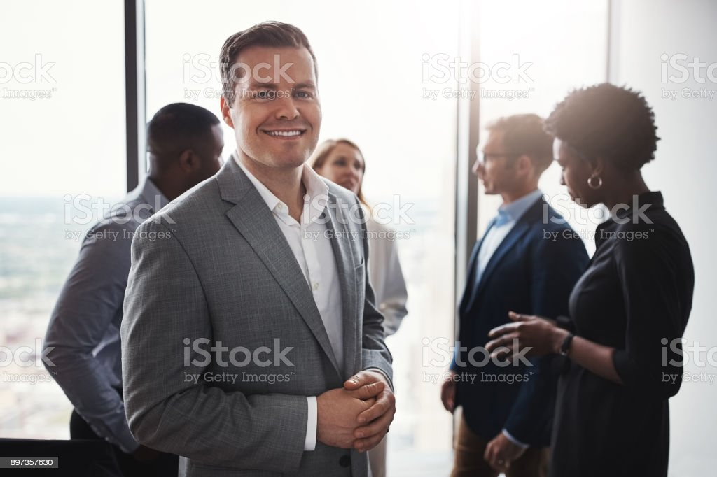 I'm part of a truly amazing team stock photo