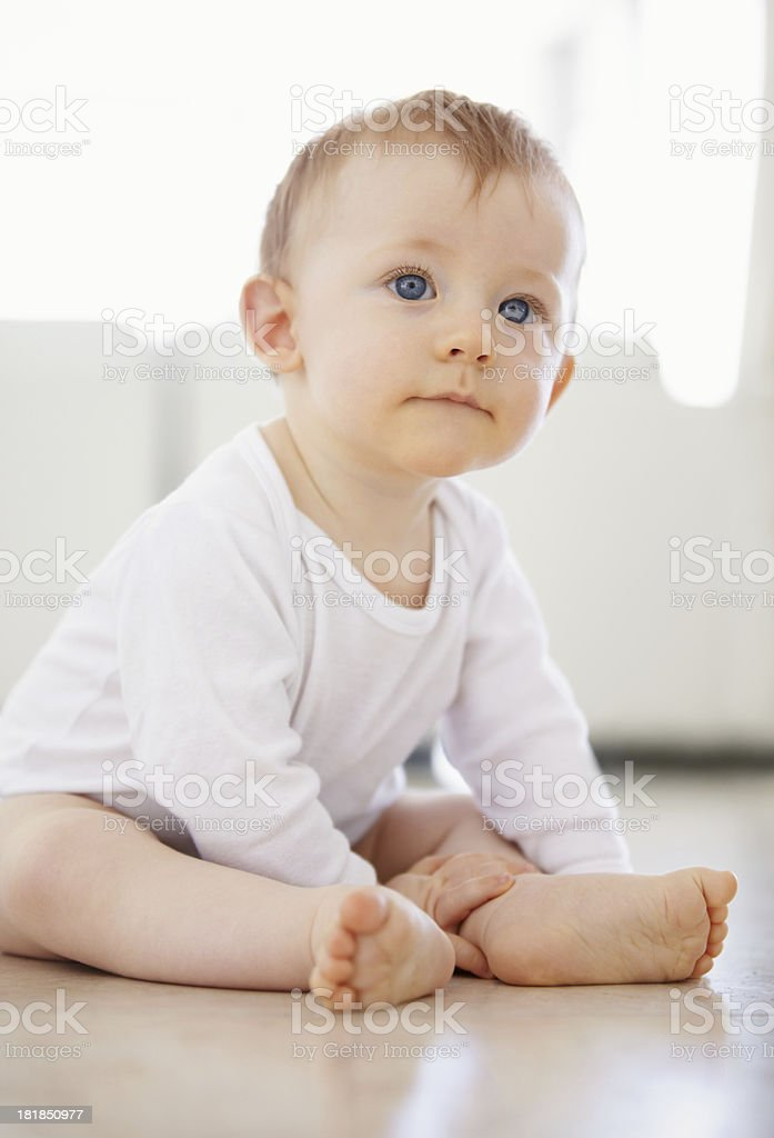 I'm ready to cause some mischief! stock photo