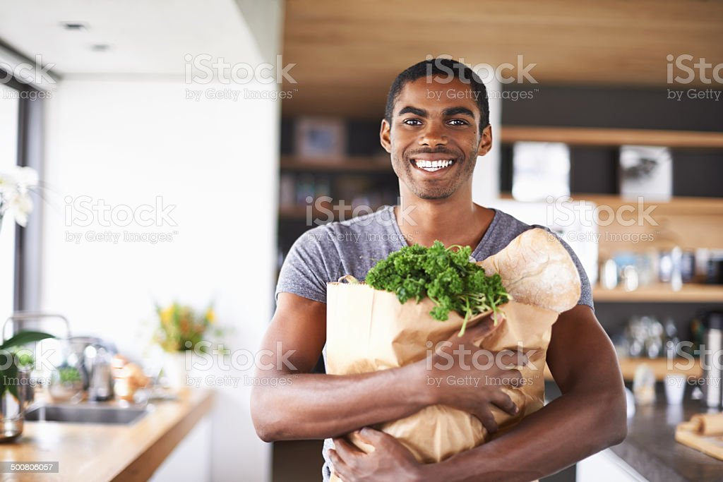 I'm ready to impress my lady tonight stock photo
