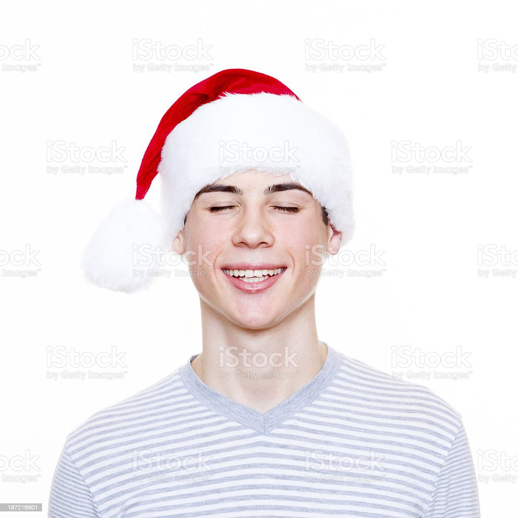I'm ready to see my present! royalty-free stock photo