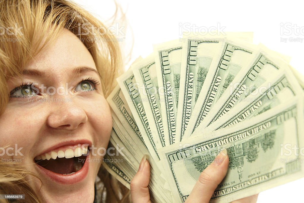 I'm rich! royalty-free stock photo