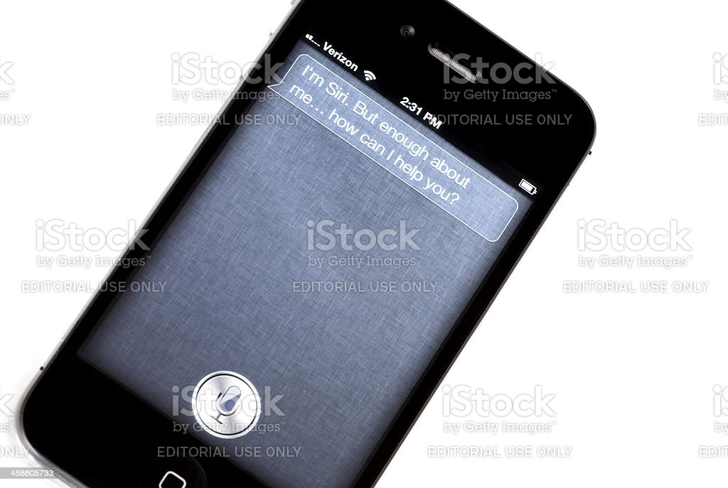 I'm Siri. But Enough About Me. How can I help? royalty-free stock photo