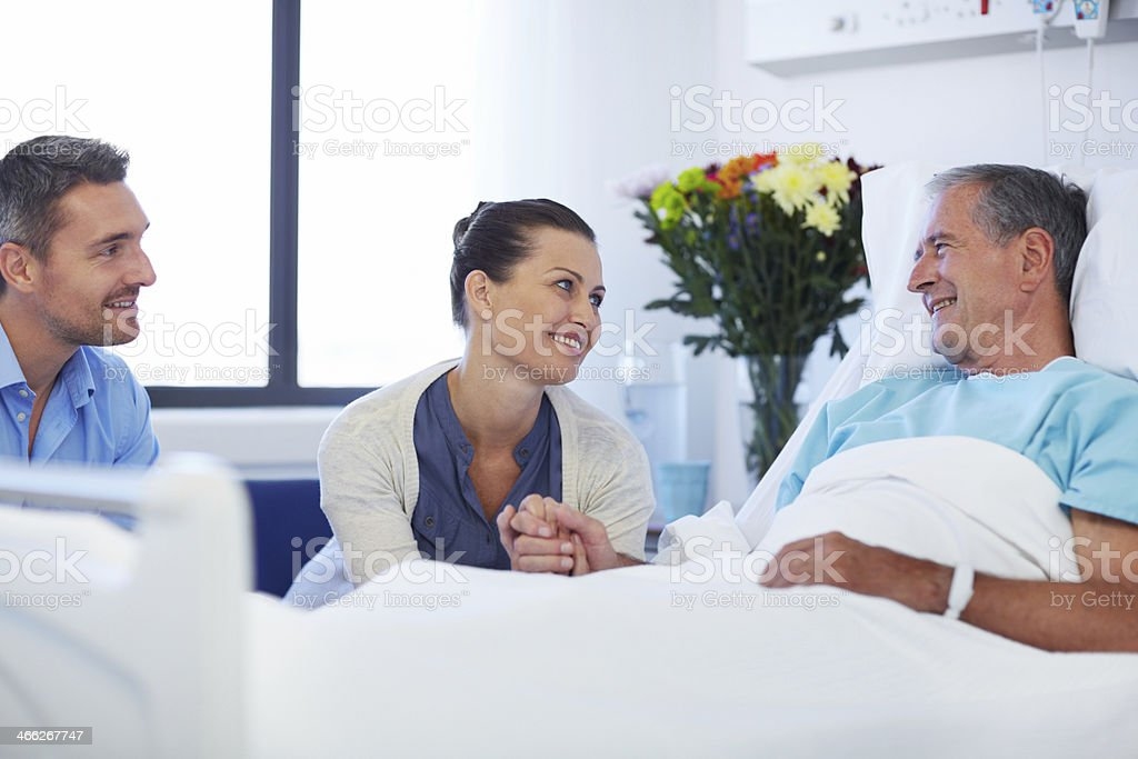 I'm so glad to see you're smiling stock photo