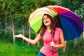 istock I'm so happy! finally raining! 175922005
